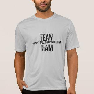 Camisa do presunto da equipe