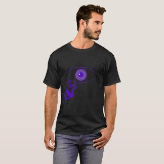 Camisa do preto do olho da conspiração de Damien
