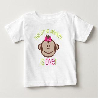 Camisa do primeiro aniversario do macaco da