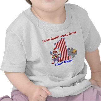 Camisa do primeiro aniversario do palhaço de Cirus Camisetas