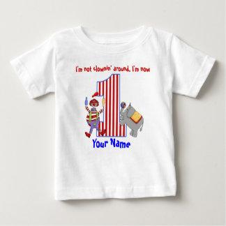 Camisa do primeiro aniversario do palhaço de Cirus Tshirts