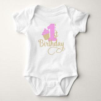 Camisa do primeiro aniversario para miúdos