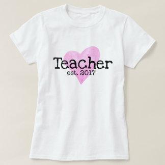 Camisa do professor, professor Est. 2017, presente