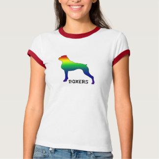 Camisa do pugilista do orgulho gay do poder da