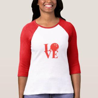 """Camisa do Raglan da boliche do """"amor"""" Tshirt"""