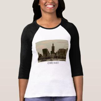 Camisa do Raglan das mulheres de Chicago Camisetas