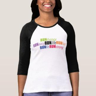Camisa do Raglan de RUNLife Tshirt