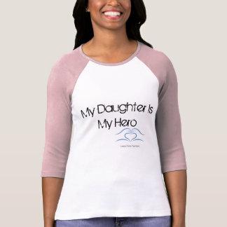 Camisa do Raglan do herói da filha das mulheres de Camisetas