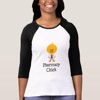 Camisa do Raglan do pintinho da farmácia T-shirt