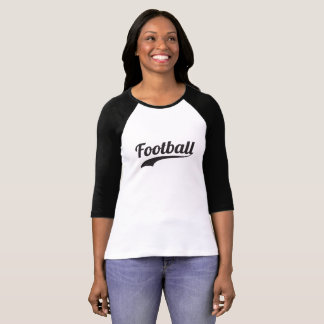 Camisa do Raglan T do futebol