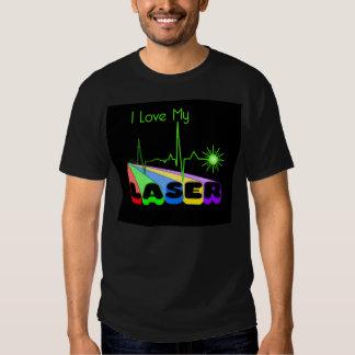 Camisa do raio laser T Camiseta