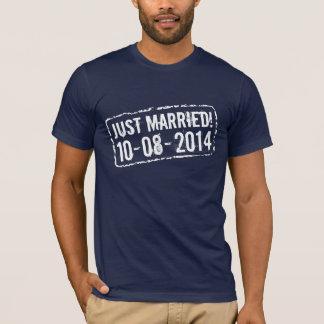 Camisa do recem casados t com 2014 selos de data