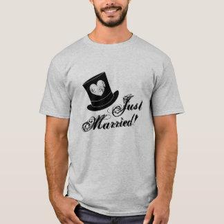 Camisa do recem casados t do vintage para o marido