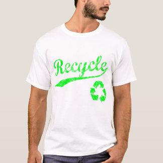 Camisa do reciclar t