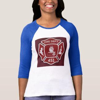 Camisa do sapador-bombeiro de Montag da cara