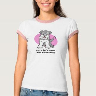 Camisa do Schnauzer T dos desenhos animados