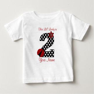 Camisa do segundo aniversário do joaninha