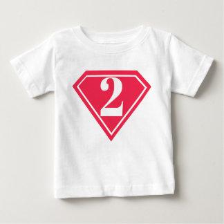 Camisa do segundo aniversário do super-herói das