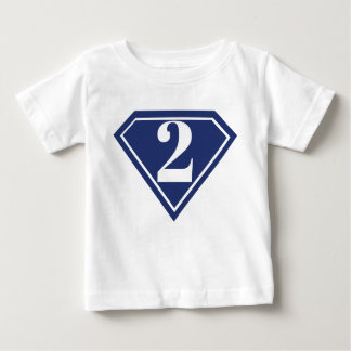 Camisa do segundo aniversário do super-herói dos