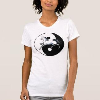Camisa do símbolo do cavalo de Yin Yang