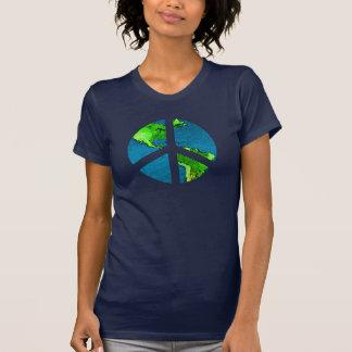 Camisa do sinal de paz do globo