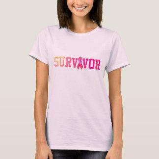 Camisa do sobrevivente do cancro da mama