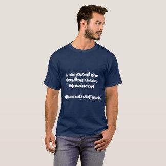 Camisa do sobrevivente do massacre de Bowling