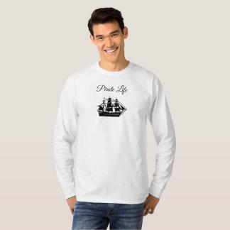 Camisa do sólido da vida do pirata