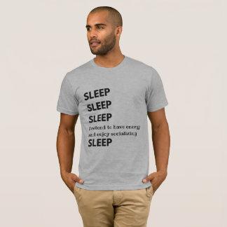 Camisa do sono do sono