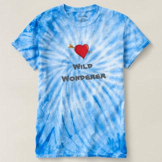 Camisa do T das mulheres selvagens da tintura do