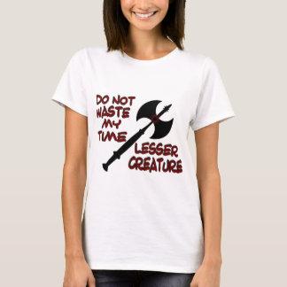 Camisa do T de pouca mulher da criatura