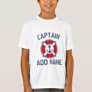 Camisa do t do miúdo náutico personalizado do