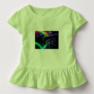Camisa do T do plissado da criança do limão chave