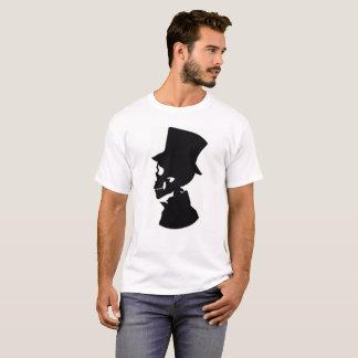 Camisa do T dos homens da silhueta do crânio