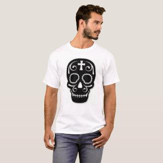 Camisa do T dos homens do crânio do açúcar