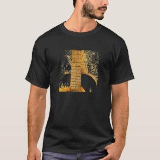 Camisa do T dos homens do ouro da guitarra