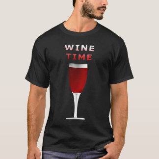 Camisa do T dos homens do tempo do vinho