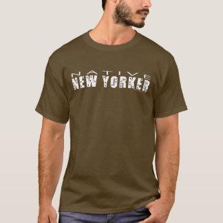 Camisa do T dos homens nativos do Nova-iorquino