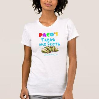 Camisa do Tacos de Pacos (mulher 2-sided cabida) Tshirt