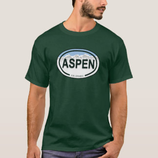 Camisa do Tag da montanha de Aspen Colorado