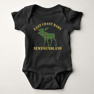 Camisa do tartan de Terra Nova dos alces do bebê