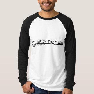 Camisa do título do desenho da arquitetura camiseta