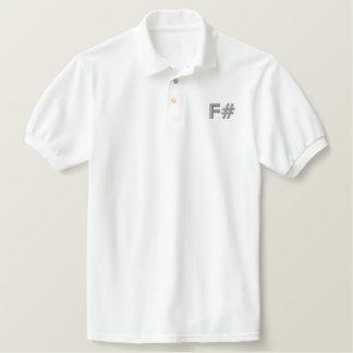 Camisa do trabalho de F# Camiseta Bordada Polo