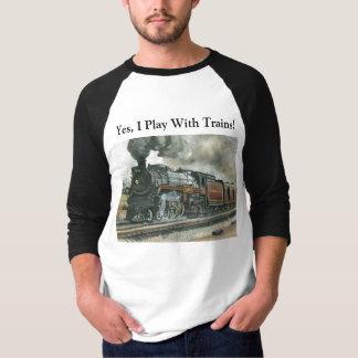 Camisa do trem - 3/4 de Raglan da luva