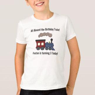 Camisa do trem do aniversário