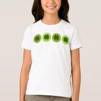 Camisa do trevo da folha dos miúdos quatro