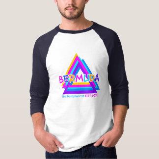 Camisa do TRIÂNGULO de BERMUDA, frente e verso