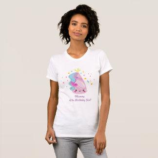 Camisa do unicórnio - mamãe da menina do