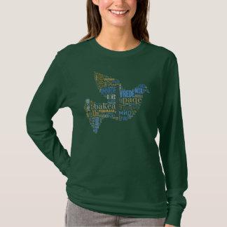 Camisa do universal da pomba da paz