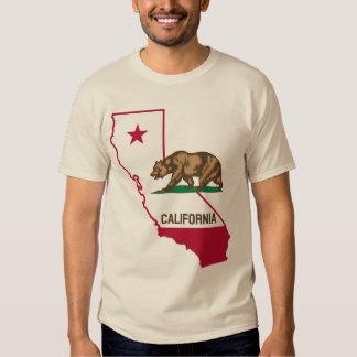 Camisa do urso da república de Califórnia Camiseta